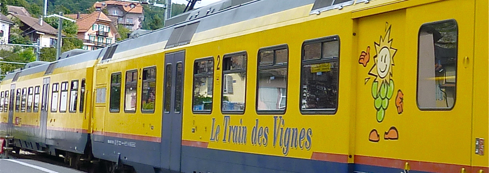 Le Train des Vignes in the Lavaux region of Switzerland