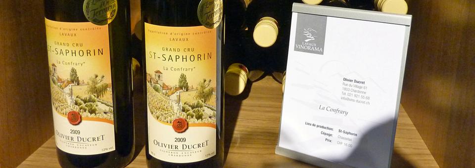 St. Saphorin wine, Lavaux Vinorama, Rivaz, Switzerland