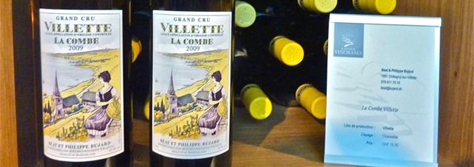 Villette La Combe wine, Lavaux Vinorama, Rivaz, Switzerland
