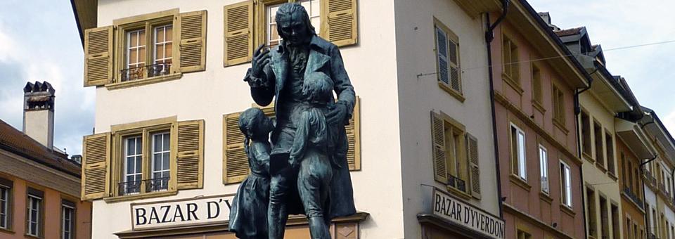 Pestalozzi statue, Yverdon-les-Bains
