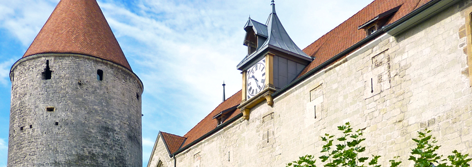 Yverdon-les-Bains, thermal capital of the Lavaux region of Switzerland