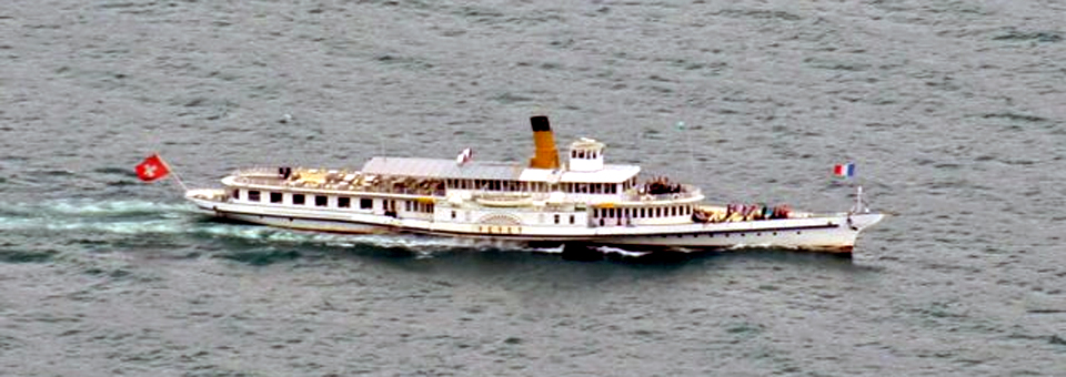 boating on Lake Geneva, lavaux region of Switzerland