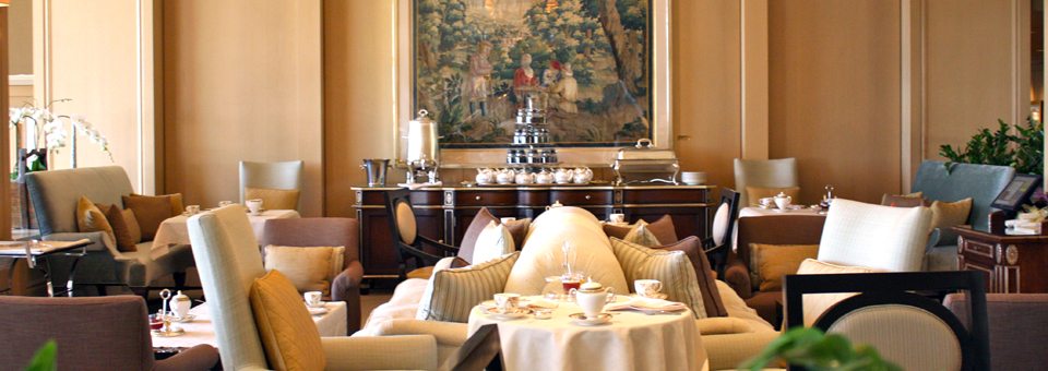 Traditional English afternoon tea, tea court of The Phoenician, Scottsdale, Arizona