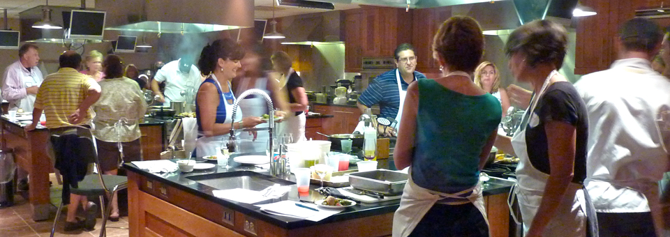 Cooking class at New York Wine and Culinary Center, Canandaigua, New York
