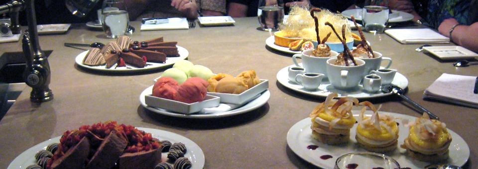 desserts at Cotton Row, Huntsville, Alabama