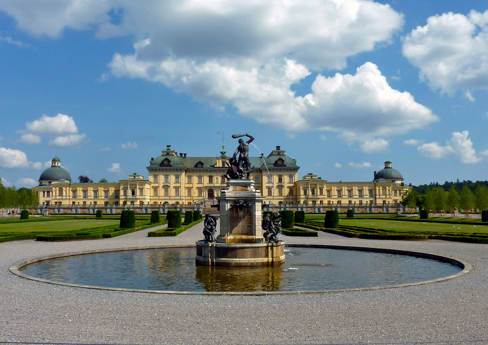 Drottningholm Palace, home of King Karl Gustaf and Queen Silvia