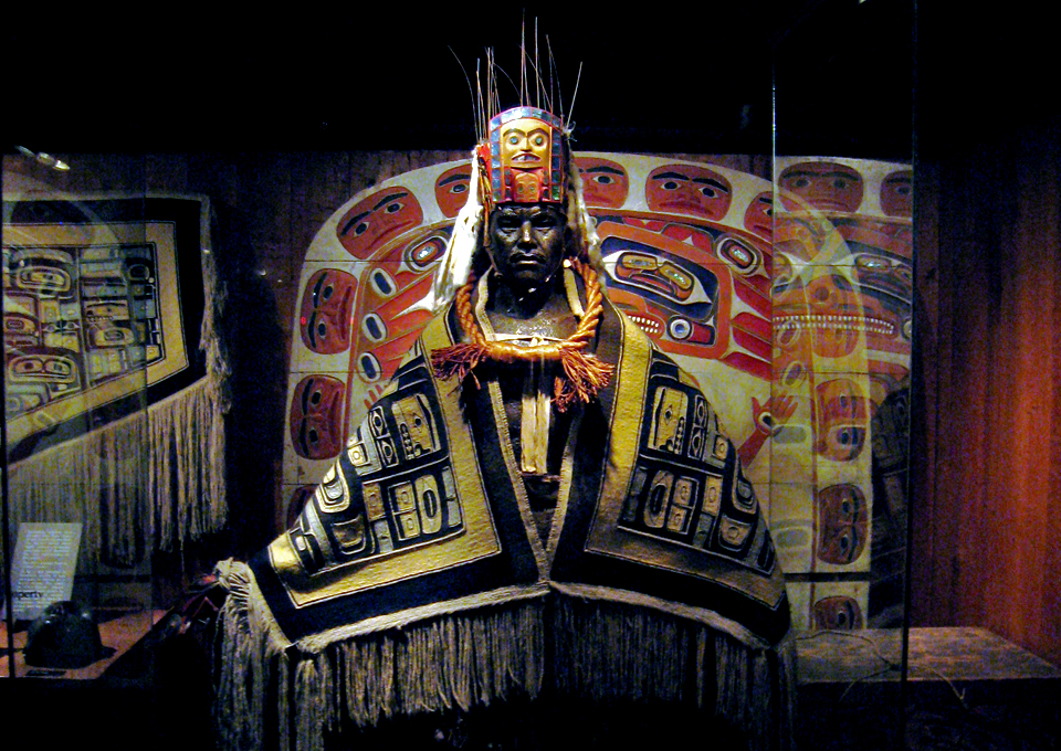First Nations clothing, Royal BC Museum, Victoria, British Columbia
