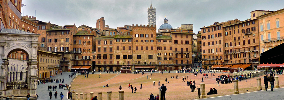 the main square in Siena, Italy