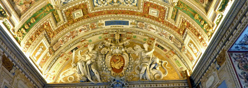 detail from the gallery of maps, Vatican Museum, Rome, Italy