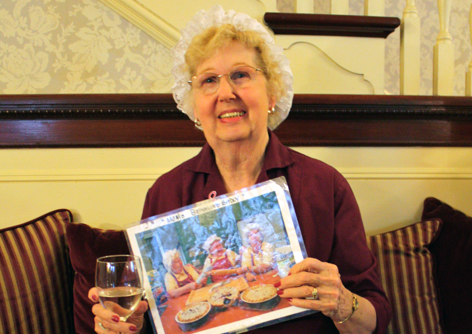 "Janet LaPosta, one of the ""Pie Moms"" of the Berry Manor Inn, Rockland, Maine"