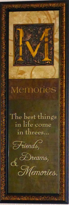 plaque on the wall of our rental home in Kissimmee, Florida