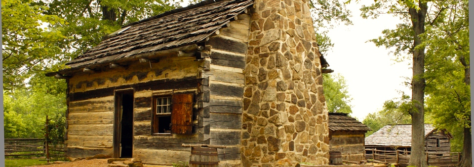The Lincoln Pioneer Homestead at the Lincoln Boyhood National Memorial in southwestern Indiana