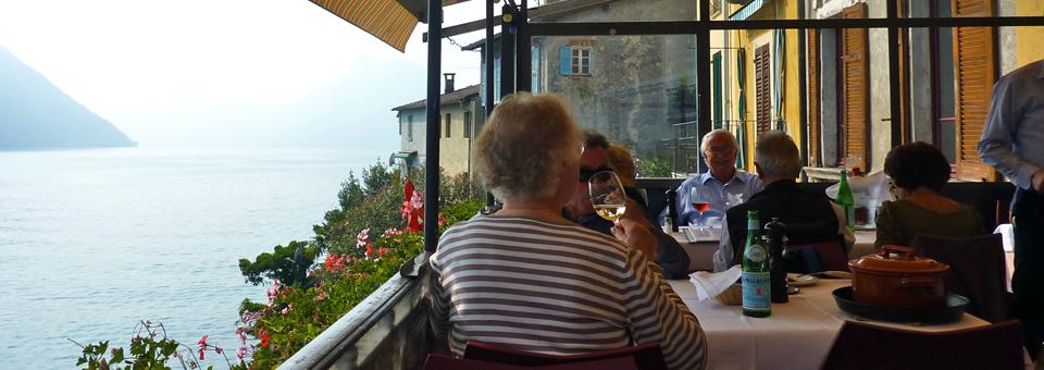 Ristorante Antico's lakeside balcony, Gandria