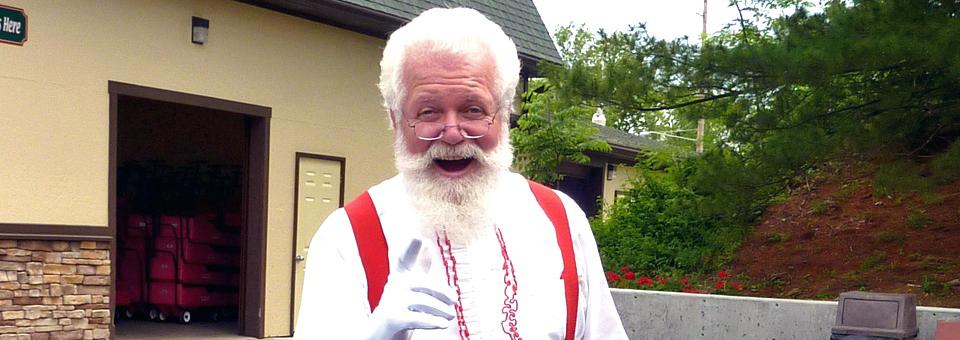 Santa at Santa Claus, Indiana