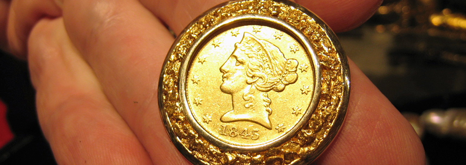 gold coin, Studio Jewelers