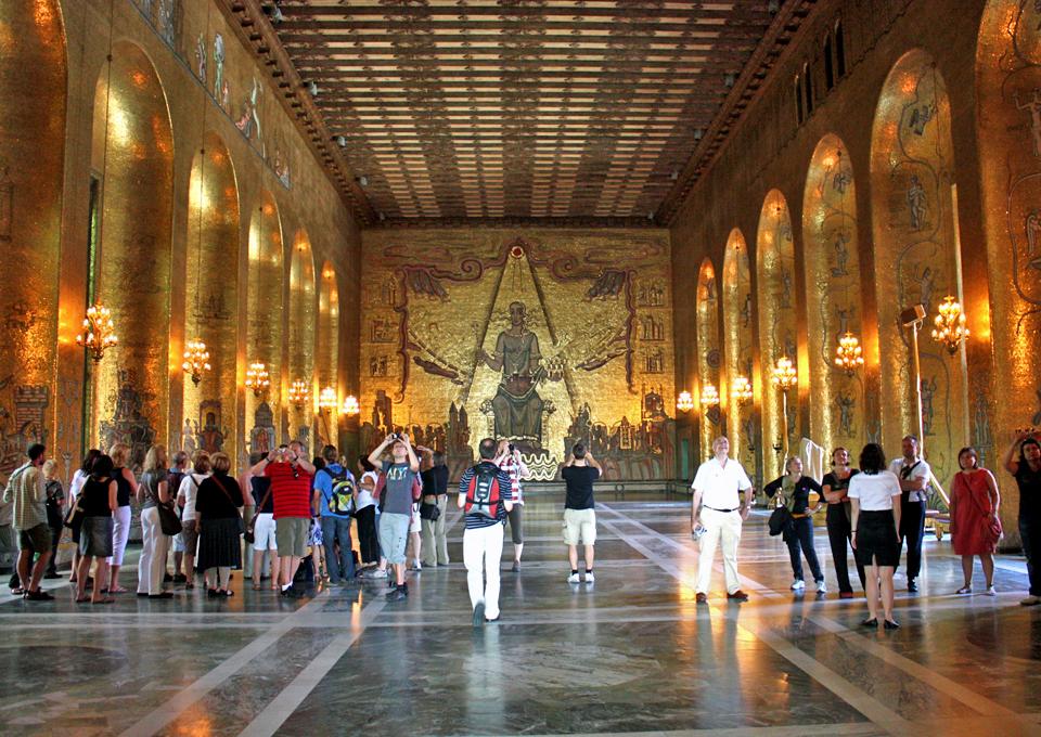 The Golden Hall of City Hall, Stockholm, Sweden