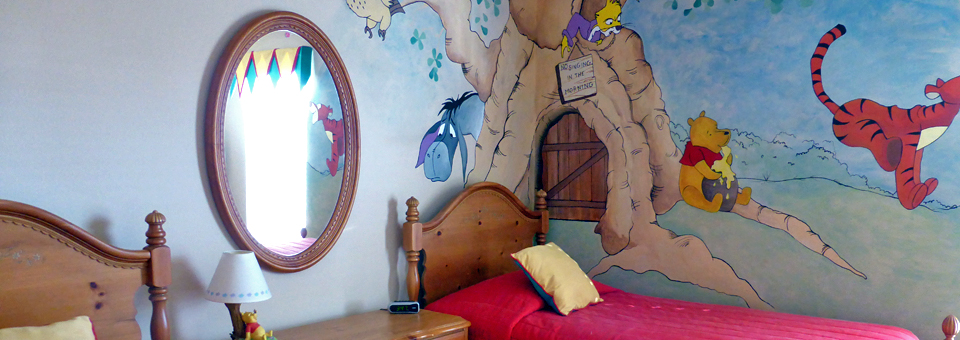 Winnie the Pooh bedroom at our rental home, Kissimmee, Florida