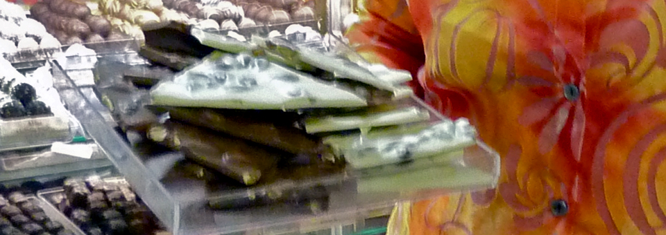 almond bark and other specialty chocolate at Sweet Expressions, Canandaigua, New York