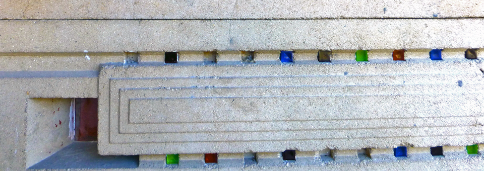 detail of textile block, Florida Southern College