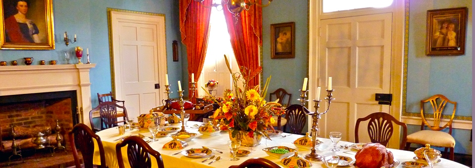 dining room of Grouseland, home of William Henry Harrison, first Governor of the Indiana Territory and later our ninth President