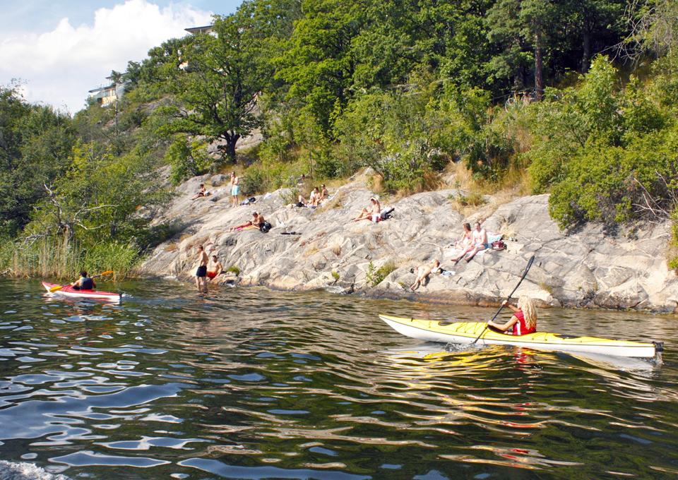 kayakers, Stockholm, Sweden