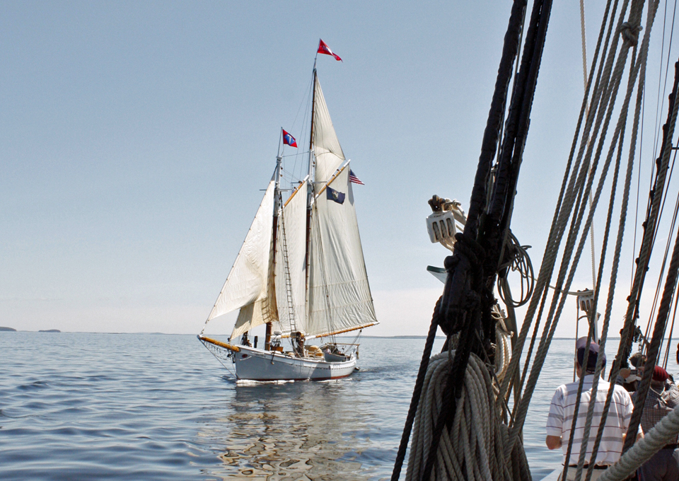 sailing on Penobscot Bay, Rockland, Maine
