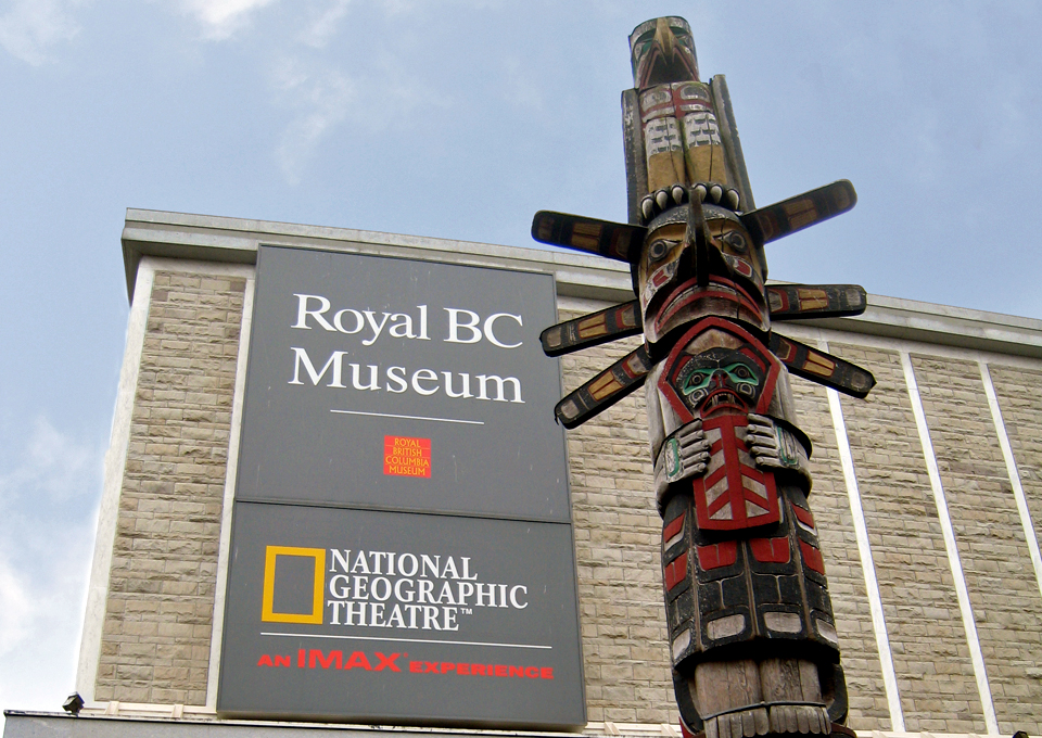 totem pole, Royal BC Museum, Victoria, British Columbia