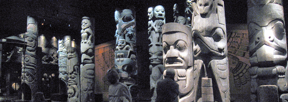 totem poles, Royal BC Museum