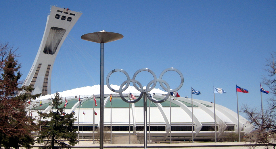 Tower and Biodome, Olympic Park, Montreal, Canada