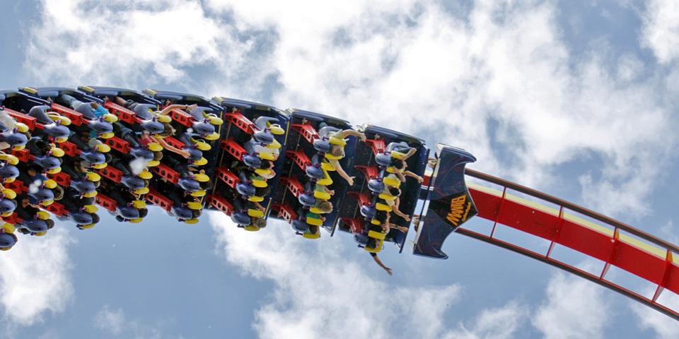 Cedar Point coaster, Sandusky, Ohio