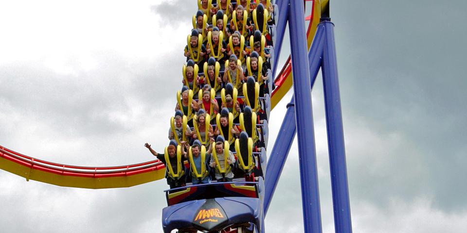 Cedar Point Mantis coaster, Cedar Point, Sandusky, Ohio