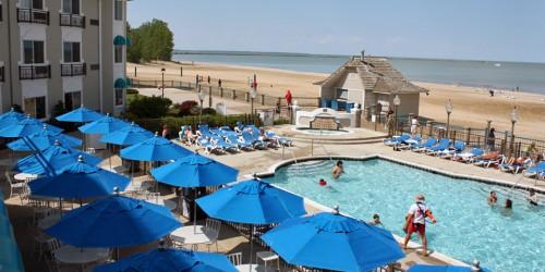 Hotel Breakers and beach, Cedar Point, Sandusky, Ohio