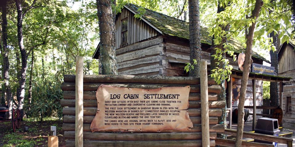 original log cabins of Connecticut families, Cedar Point, Sandusky, Ohio