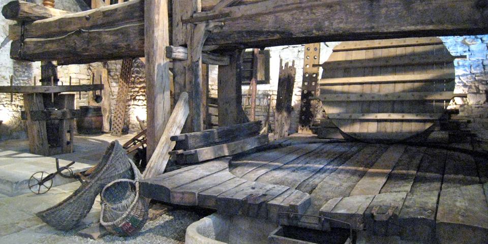 wine press in Chablis