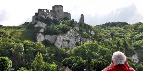Château Gaillard, seen from the Viking Seine