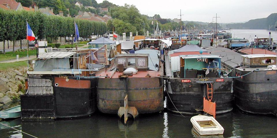 barges, Conflans, France