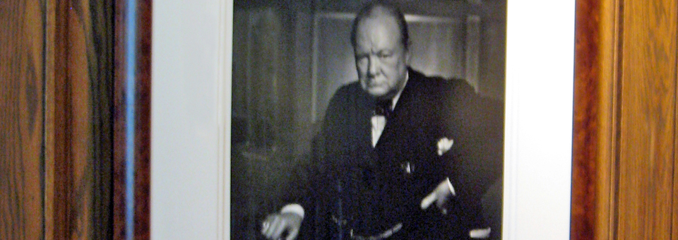 Karsh portrait of Winston Churchill in the Reading Room of the Fairmont Chateau Laurier, Ottawa