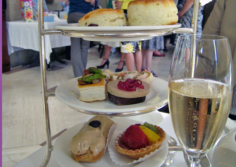 afternoon tea at the Fairmont Chateau Laurier