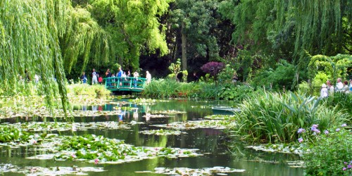 bridge and Monet's water lilies, Giverny, France
