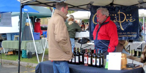 Grand Pré wine, Wolfville Farmer's Market, Nova Scotia