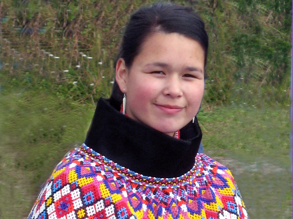 Young woman of Greenland in native costume