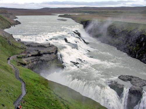 Gullfoss, in southwest Iceland
