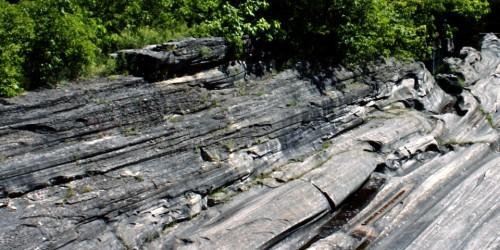 glacial grooves, Kelley's Island, Ohio