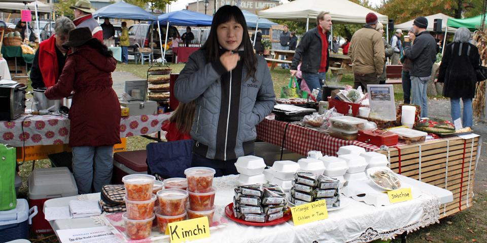 Kim chi, Wolfville Farmer's Market, Nova Scotia