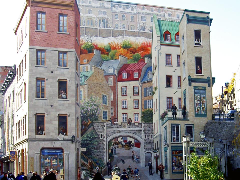 mural, Place Royale, Quebec City