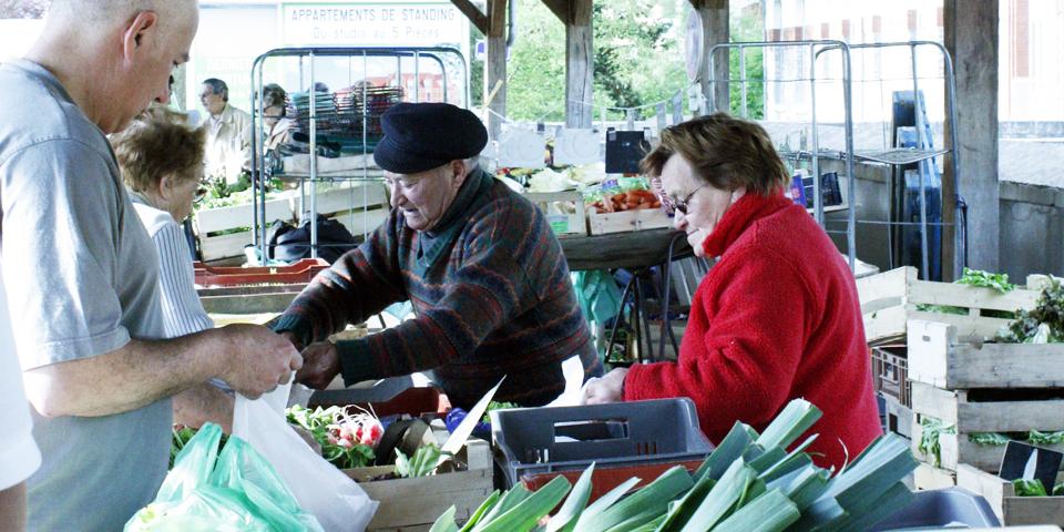 Montargis market, France