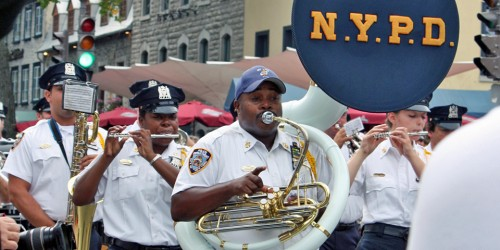 NYPD band, Quebec City's 400th Anniversary, Canada