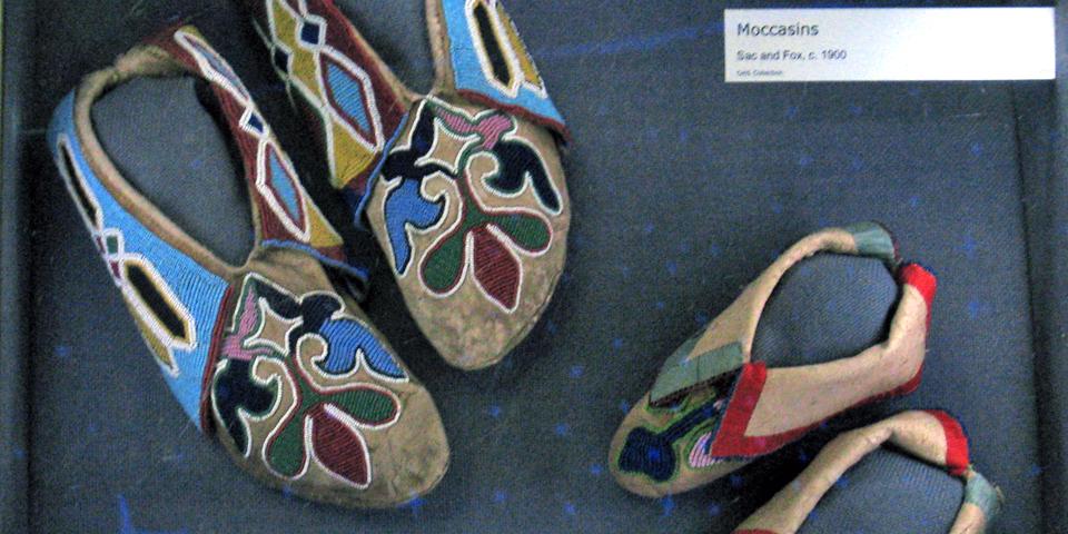 beadwork moccasins, Oklahoma History Center