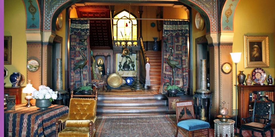 foyer of Olana, Catskill, New York