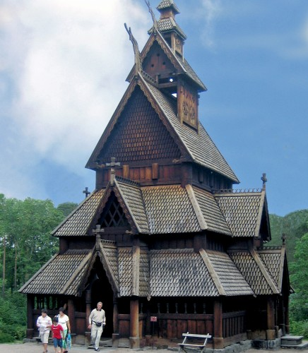 Stave Church, Open Air Folk Museum, Oslo, Norway